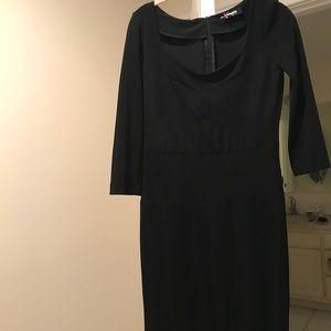 Sinequanone Black Bodycon Dress Medium